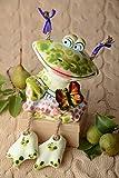 Lustige Spardose handgemachte Keramik Ton Deko Geschenk fur Kinder bunt Frosch
