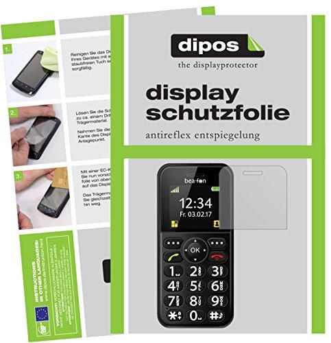 dipos I 2X Schutzfolie matt passend für bea-fon SL150 Folie Displayschutzfolie