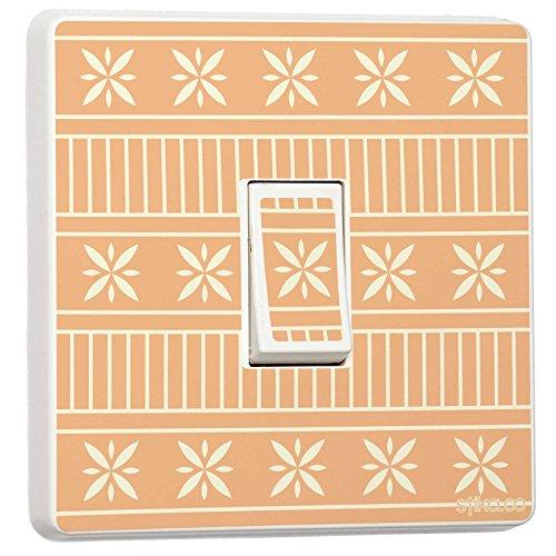 Vintage Retro-Mustern–Single Lichtschalter Aufkleber–Selbstklebendes Vinyl retro 3 - Single Lichtschalter