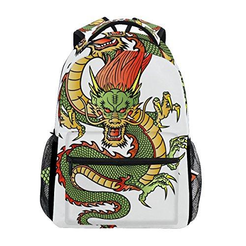COOSUN Dragón chino Mochila Casual Escuela Mochila bolsa de viaje Multicolor