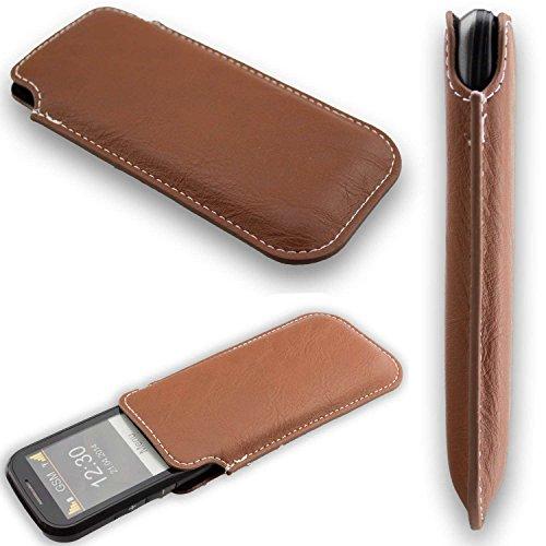 caseroxx Tasche/Hülle Business-Line Etui Emporia Eco C160 - Schutzhülle für Smartphone (Handy Sleeve in braun)