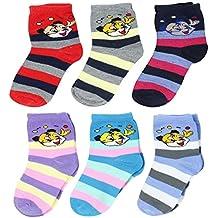 NeskaModa Unisex Regular Fit Ankle Socks (Pack of 6)(S57-KidsSocks_Multicolor_7-13 Years)