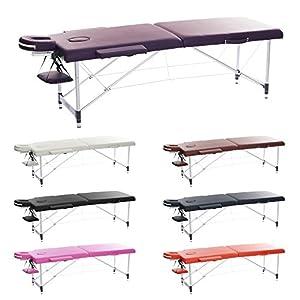 h-root 2 Abschnitt Ultralight Aluminium tragbare Massageliege, Schlafcouch Sockel, Therapie Tatoo Salon Reiki Healing Schwedische Massage mit gratis Tragetasche