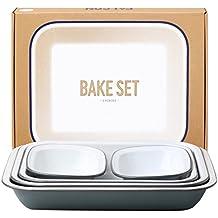 Genuine Falcon Enamelware Bake Set (Pigeon Grey)