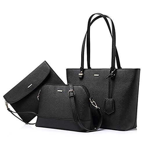 Vintage Stylish Ladies Handbag (A18) (BLACK)
