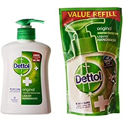 Dettol Liquid Handwash (Original) - 200 ml with Free Liquid Handwash - 175 ml (Any Variant)