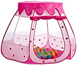Bieco 22008604 - Prinzessinen Palast Bällebad mit 100 pastellfarbenen Bälle