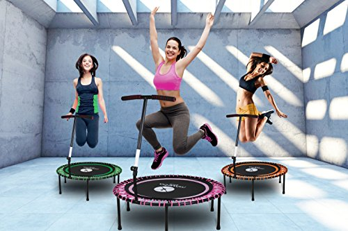 Miweba JUMPNESS Fitness Trampolin Round 40` inklusive Pad 100 cm orange Minitrampolin Workout