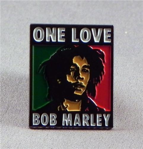 Metal Enamel Pin Abzeichen Brosche Rock Musik Superstar - Bob Marley