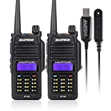 BAOFENG R760 2PCS Wasserdicht IP57 136-174/400-520MHZ VHF/UHF Dual Band Amateur Handfunkgerät Two Way Radio Walkie Talkie+Programmierkabel-Lightwish