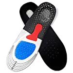Santo Shoe Insoles, Silicone Gel Shoe Cushion Foot Care Shoe Pad for Shoe Sole Orthopedic Pad Massaging, Shock Absorption...