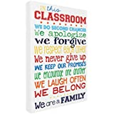 "The Kids Room By Stupell In This Classroom Rules Typography Canvas Art, 16"" X 20"""