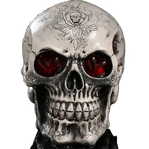 Yammucha Lebensgroße Replik realistische menschliche Schädel Kopf Knochen Modell Halloween ()
