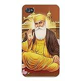 Apple Iphone Custom Case 4 4s Snap on - Guru Nanak Dev Ji Sikhism Founder