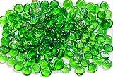 The Glass Pebble Shop - Piedras de Cristal (1 kg, Aprox. 200 Unidades) Lote de 1 kg de Piedras de Cristal Decorativas, Verde