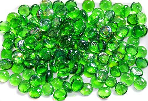 200Glas Pebbles Nuggets Perlen Steine Mosaic Dark Grün (Rote Glas Perlen Für Vasen)