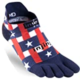 Injinji Run Lightweight No Show Stars & Stripes, Small