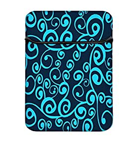 Snoogg Wave Pattern Seamlessly Tiling Seamless Wave Backgroundocean Texture 13 inch Laptop Case Flip Sleeve Bag Computer Cover