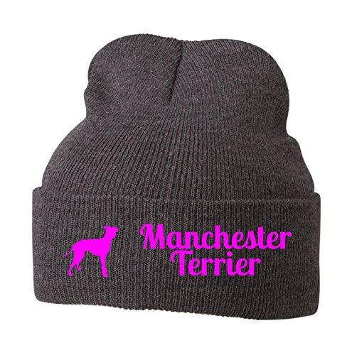 Strickmütze - MANCHESTER TERRIER britische Hunderasse Pinscher Rattler Hund Hunde...