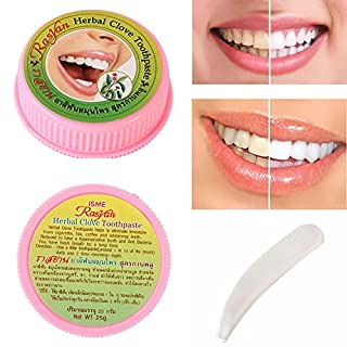 Teeth Whitening Toothpaste, Ainstsk 25g Natural Herbal Amazing Thai Toothpaste Strong Formula Stain Protection