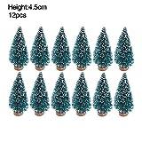 Semine 12 PCS Mini Albero di Natale Assortiti Formato Mini Alberi Sisal Piccolo Albero di Natale Festival Home Decor