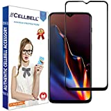 CELLBELL® Full Glue Edge to Edge Screen Protector Tempered Glass with Installation Kit for OnePlus 6T (Black)