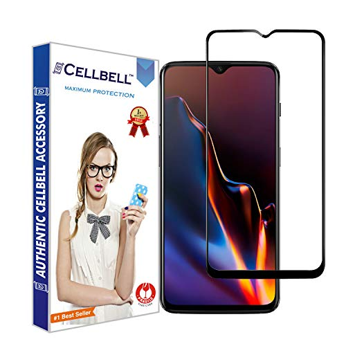 CELLBELL® 6D Edge to Edge Tempered Glass Screen Protector for OnePlus 6T/OnePlus 7 with Installation Kit