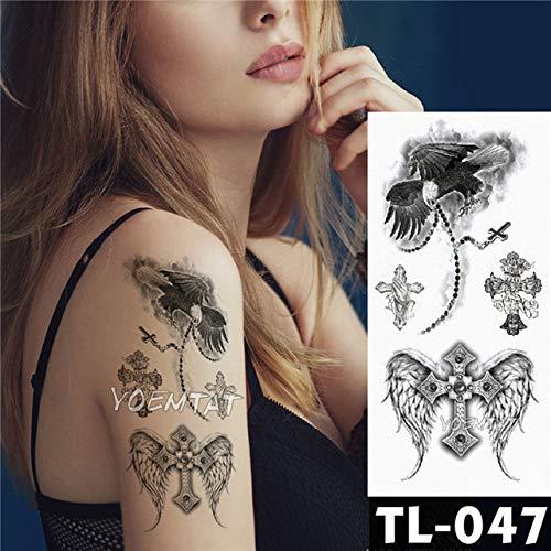 3 Stücke-Tattoo Aufkleber Dark Rose Blume arm Schulter Tattoo wasserdichte weibliche Tattoo Body Art 3 Stücke- -