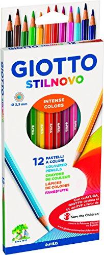 giotto-256500-pastelli-stilnovo-33-mm-confezione-da-12