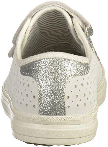 s.Oliver 5-24604-28 Damen Sneakers Weiß(Weiß/Silber)