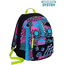 50f9a827ae Zaino scuola SEVEN - SWAG GIRL - Nero Azzurro Rosa - estensibile - VARIANT  SYSTEM -