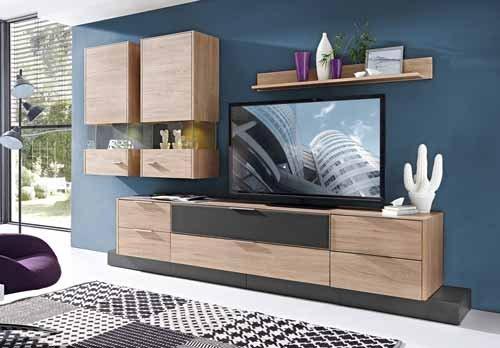 wohnwand 9 tlg bestseller shop f r m bel und einrichtungen. Black Bedroom Furniture Sets. Home Design Ideas