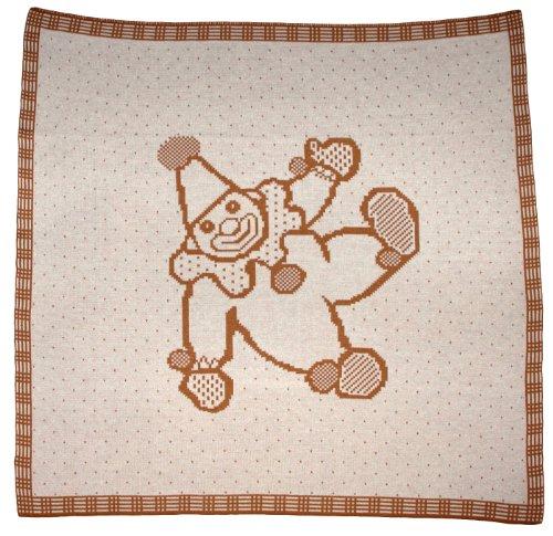 Sonnenstrick 30081 Babydecke / Kuscheldecke / Strickdecke mit Harlekin-Motiv aus 100 % Bio Baumwolle kba (zertifiziert nach GOTS) 80 x 80 cm (Harlekin-baumwolle)