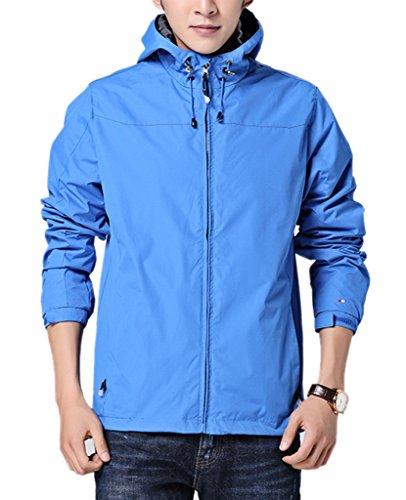 Geval Primavera di sport esterni antivento escursione di campeggio giacche da uomo Cielo blu