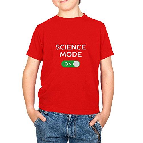 NERDO Science Mode On - Kinder T-Shirt, Größe XL, Rot