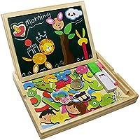Fajiabao Rompecabezas Caja de Madera Magnética de Tablero Educativo Pizarra Juguete Puzzle para Niños de 3 Años + - Peluches y Puzzles precios baratos