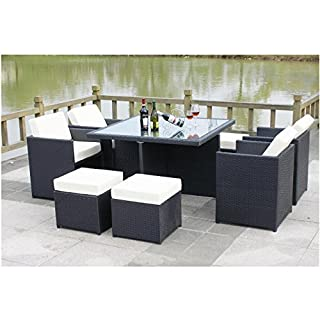 All Seasons Outdoor JT40s Rattan Garden Furniture Outdoor Patio Set With Glass Table... SUMMER SALE