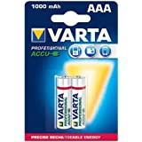 VARTA Lot de 2 Blisters de 2 Accu photo Micro AAA, 1,2 volt/1000 mAh