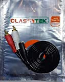 #8: Classytek 3.5mm Female Stereo Jack To 2 RCA Male Plugs Cable 1.5 Meter / 4.9 Feet - Black