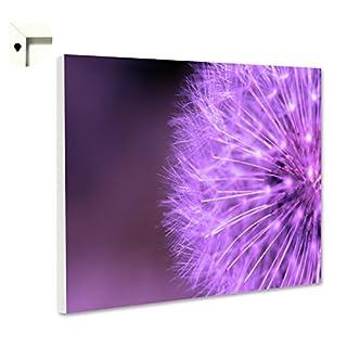 Pinnwand Magnettafel Memoboard Motiv Natur & Blumen Pusteblume in lila (60 x 40 cm)