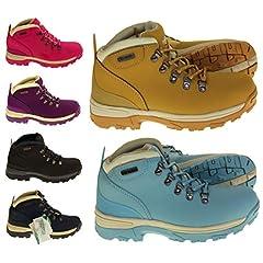 b697c31e7de Northwest Territory Womens Trek Leather Walking Hiking Boots ...