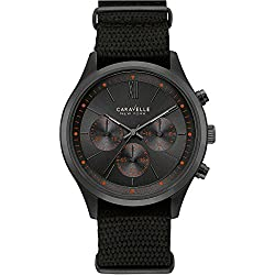 Caravelle New York Men's Quartz Watch with Chronograph Quartz Nylon 45 A130