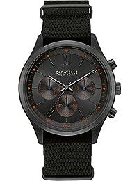 Caravelle New York de hombre reloj de pulsera Cronógrafo Cuarzo Nylon 45A130