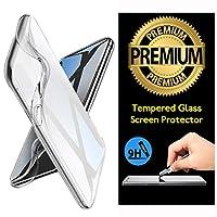 Cekuonline® Huawei Mate 20 Lite Kılıf Kapak Tam Şeffaf Silikon + Temperli Kırılmaz Cam Ekran Koruyucu