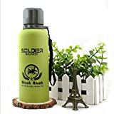 Celebration Gift High Quality Military Vacuum Cup Water Bottle with Strap (Light Green)