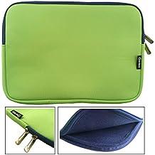 Emartbuy® Verde / Azul Funda Case Cover Sleeve Impermeable con Cremallera de Neopreno SuaveWith Azul Interior & Cremallera apto para Teclast X16 Power 11.6 Pulgada Tablet ( 11.6 - 12.5 Pulgada Tablet Chromebook Laptop )