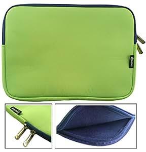 Emartbuy® Verde / Blu Impermeabile Morbido Neoprene Con Chiusura a Zip Case Cover Con Blu Interno Lampo Adatta Per Mediacom WinPad U11 11.6 2 in 1 Tablet PC 11.6 Pollice (11.6 - 12.5 Pollice Laptop)