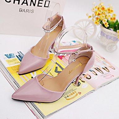 Moda Donna Sandali Sexy donna tacchi Comfort estivo abito pu Stiletto Heel Crystal nero / rosa / Bianco Altri White