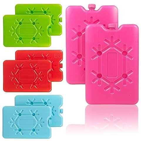 Lot de 2blocs de voyage réutilisable Congélateur Glace–Choix de Couleurs 2 x Blue Cool It Freezer Packs