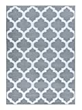 A2Z RUG Trellis Rugs Silver 120x170 cm - 3'9''x5'5'' ft Trendy Collection without borders Area Rug